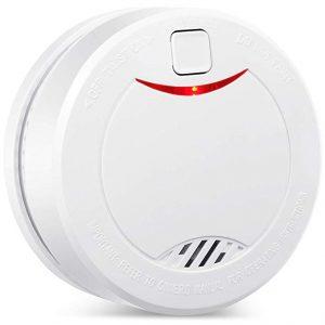 Uso como Detector de Humo Detector de Incendios Homesecurity Blanco sdgfd Detector de Humo//Detector de Incendios//Detector de Incendios con 10 a/ños Juego de 1